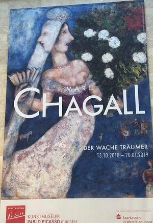 Plakat zur Chagall-Ausstellung