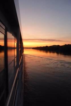 Sonnenaufgang kurz vor Budapest