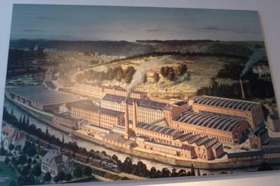 Abbildung der ehemaligen Tuchfabrik Wülfing