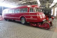 Ein Straßen-Schienenbus der 50er/60ger Jahre