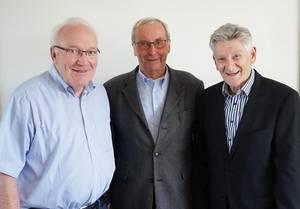 Drei neue Ehrenmitglieder: Berretz, Dahlmann, Brambach (v. l.)